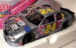 2000 Silver NASCAR 1/24 clear window by Action #24