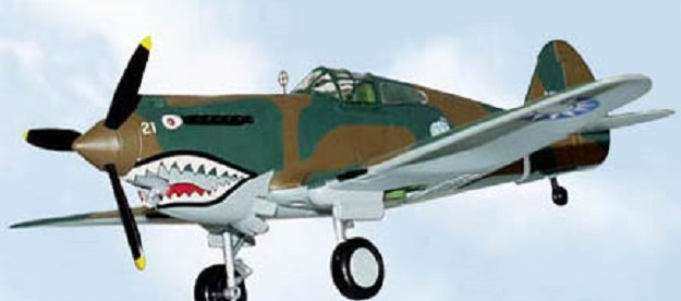 P-40 Warhawk Pappy Boyington's #21 Flying Tigers Spec Cast 44006