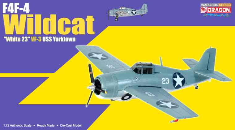 "F4F-4 Wildcat ""White 23"" 1/72 Dragon Mfger DRW50247"