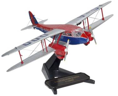 De Havilland DH.89A Dragon Rapide 1/72 Die Cast Model (72DR002)