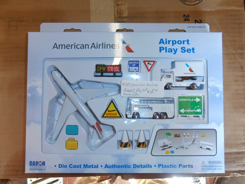 American Airlines New Logo Airport Playset