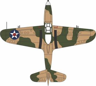 P-400 (P-39) Airacobra 1/72 Die Cast Model, 1942 (AC033)