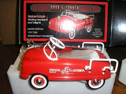1948 BMC Hook & Ladder Pedal Car by Crown 1/6 Scale