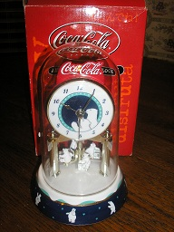 Coca Cola Anniversary Clock with Dome