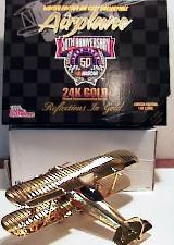 Gold 24K Biplane 50th Anniversary of NASCAR