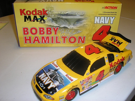 Hamilton, Bobby #4 Kodak Armed Forces / Navy 1/24 Action