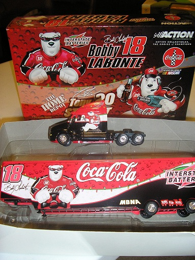 Labonte, Bobby and Tony Stewart Polar Bears 2001 Hauler