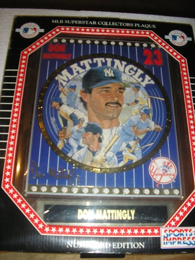 Mattingly, Don New York Yankees Collector Plaque